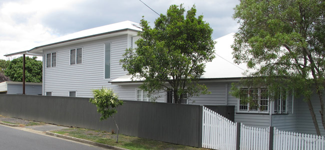 Double story rear house extension in Brisbane